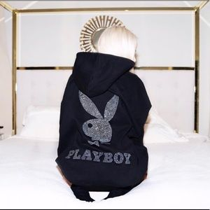 Playboy x Missguided oversized black hoodie